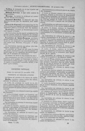 Tome 53 : Du 27 octobre au 30 novembre 1792 - page 497