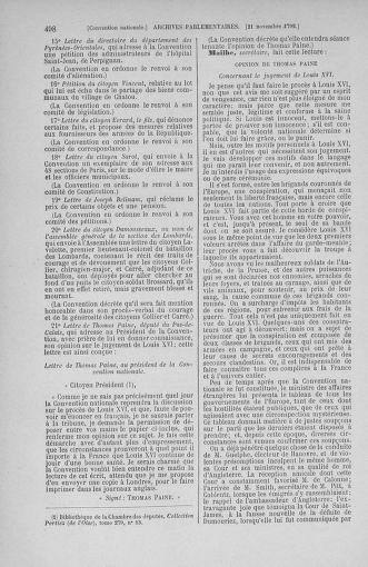 Tome 53 : Du 27 octobre au 30 novembre 1792 - page 498