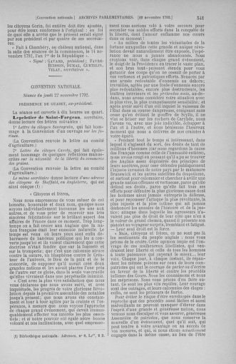 Tome 53 : Du 27 octobre au 30 novembre 1792 - page 541
