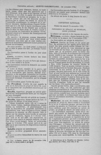 Tome 53 : Du 27 octobre au 30 novembre 1792 - page 567