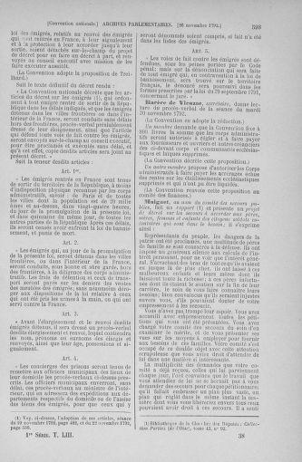 Tome 53 : Du 27 octobre au 30 novembre 1792 - page 593