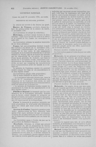 Tome 53 : Du 27 octobre au 30 novembre 1792 - page 652