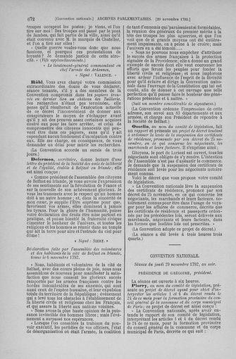 Tome 53 : Du 27 octobre au 30 novembre 1792 - page 672