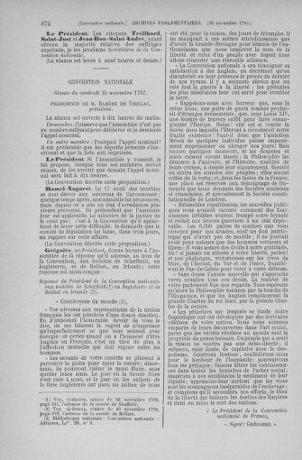 Tome 53 : Du 27 octobre au 30 novembre 1792 - page 674