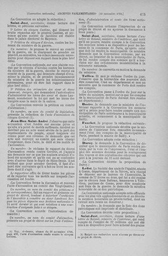 Tome 53 : Du 27 octobre au 30 novembre 1792 - page 675