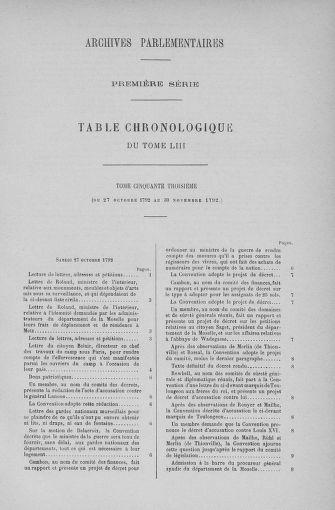 Tome 53 : Du 27 octobre au 30 novembre 1792 - page ..