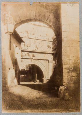 Porta Tiburtina, veduta dell'interno