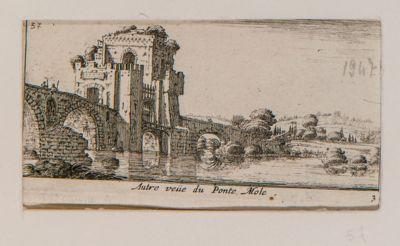 Altra veduta di ponte Molle a Roma
