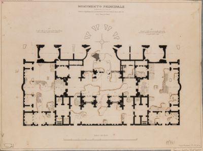 Terme di Caracalla. Monumento principale e stato attuale, scavi 1824 e 1825