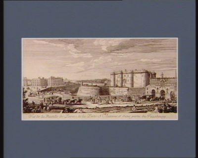 Vue de la Bastille de <em>Paris</em>, de la Porte St Antoine, et d'une partie du fauxbourg [estampe]