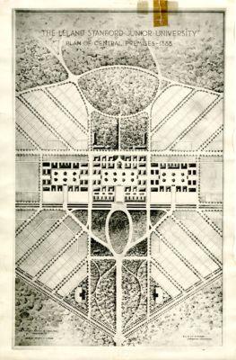 The Leland Stanford Junior University; Plan of Central Premises, 1888