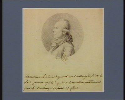 Lescurier lieutenant general au baillage de [illisible] le 2 janvier 1744 député a l'Assemblée nationale pour le bailliage de St Flour : [dessin]