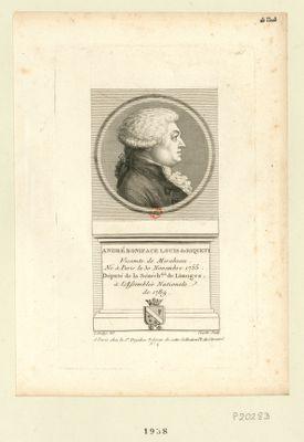 André Boniface Louis de Riqueti vicomte de Mirabeau. Né à Paris le 30 novembre 1755. Député de la sénéch.sée de Limoges à l'Assemblée nationale de 1789 : [estampe]