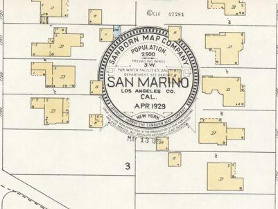 San Marino California Map.Browse Exhibit Sanborn Fire Insurance Maps Spotlight At Stanford