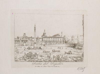 Piazza del Popolo, obelisco Flaminio