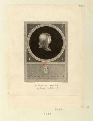 Vive Louis XVII roi de <em>France</em> veille sur lui, grand Dieu, qui sauvas son enfance ! : [estampe]