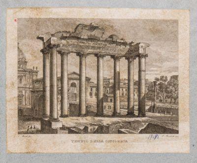 Tempio di Saturno, colonnato dall'interno