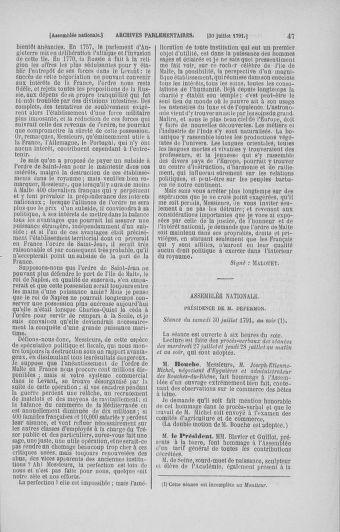 Tome 29 : Du 29 juillet au 27 août 1791 - page 47