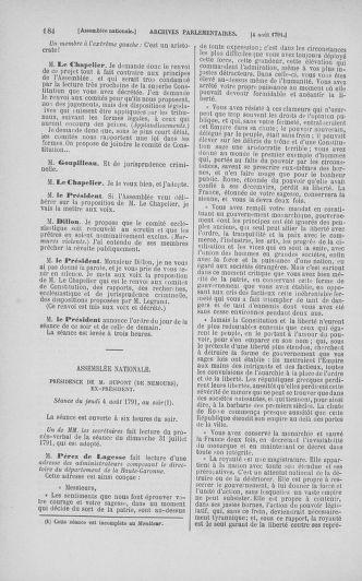 Tome 29 : Du 29 juillet au 27 août 1791 - page 184