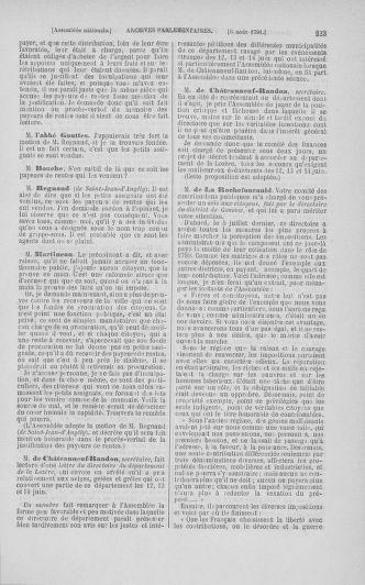Tome 29 : Du 29 juillet au 27 août 1791 - page 223