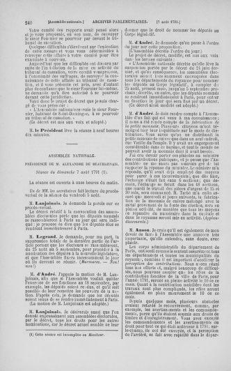 Tome 29 : Du 29 juillet au 27 août 1791 - page 240