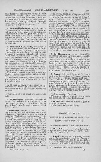 Tome 29 : Du 29 juillet au 27 août 1791 - page 257