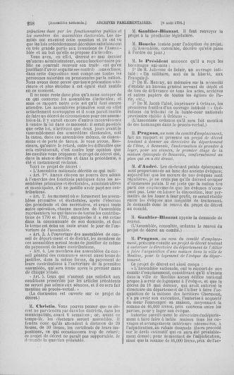 Tome 29 : Du 29 juillet au 27 août 1791 - page 258