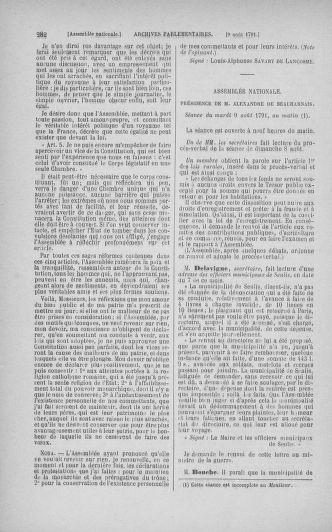 Tome 29 : Du 29 juillet au 27 août 1791 - page 282