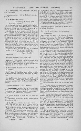 Tome 29 : Du 29 juillet au 27 août 1791 - page 305