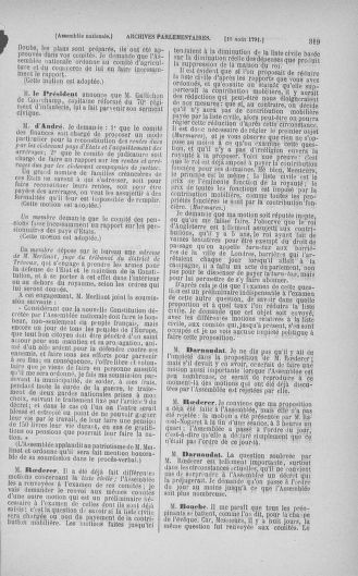 Tome 29 : Du 29 juillet au 27 août 1791 - page 319