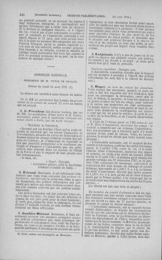 Tome 29 : Du 29 juillet au 27 août 1791 - page 440