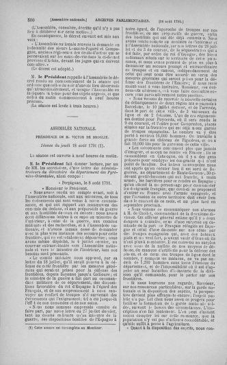 Tome 29 : Du 29 juillet au 27 août 1791 - page 500