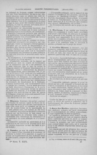 Tome 29 : Du 29 juillet au 27 août 1791 - page 577
