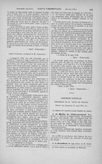 Tome 29 : Du 29 juillet au 27 août 1791 - page 605