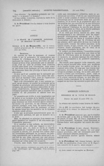 Tome 29 : Du 29 juillet au 27 août 1791 - page 704
