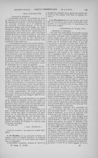 Tome 29 : Du 29 juillet au 27 août 1791 - page 705
