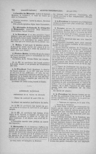 Tome 29 : Du 29 juillet au 27 août 1791 - page 722