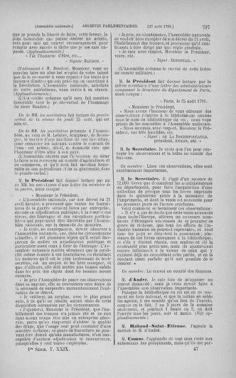 Tome 29 : Du 29 juillet au 27 août 1791 - page 737
