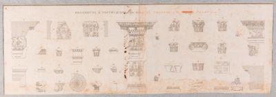 Palatino, frammenti architettonici (trabeazioni, capitelli, cornici, etc…)