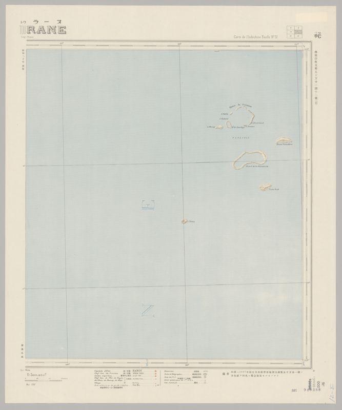Futsuryō Indoshina Gojūmanbunnoichi Zu = : Carte de l'Indochine