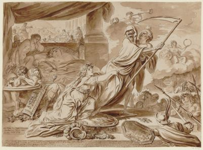 Aux manes de l'illustre Mirabeau liberateur de la patrie mort le deux davril 1791 [dessin]