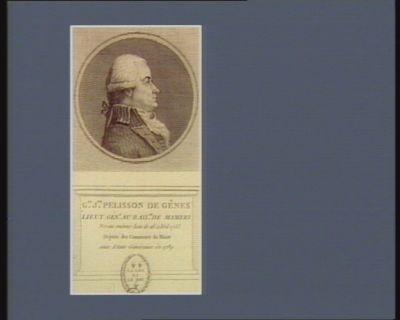 G.me J.phe Pelisson de Gênes lieut. gén.l au bail.ge de Mamers né au même lieu le 16 à Vril [sic] 1753 député des communes du Maine aux Etats généraux de 1789 : [estampe]