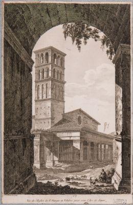 Chiesa di San Giorgio in Velabro vista attraverso il Fornice di Giano