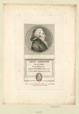 Louis Godefroy cure de Nonville ne au dit lieu en 17[..] député du bail.ge de Mirecourt à l'Assemblee nationale de 1789 : [estampe]