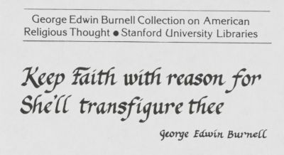 George Edwin Burnell Collection on American Religious Thought