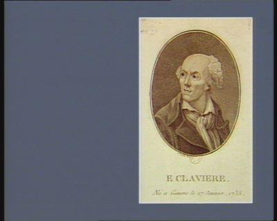 <em>E</em>. Claviere né a Geneve le 27 janvier 1735 : [estampe]