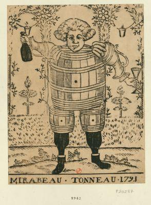 <em>Mirabeau</em>-<em>Tonneau</em>. 1791 [estampe]