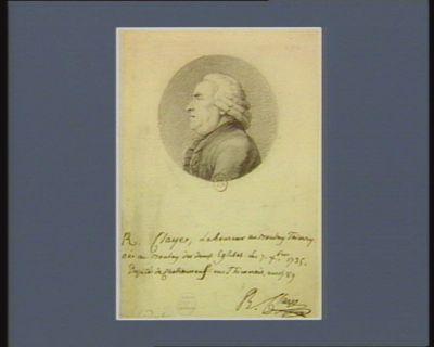 R. Claye laboureur au Boulay Thierry né au Boulay les deux Eglises le 7 X.bre 1735 député de Chateauneuf en Thimerais en 1789 : [dessin]