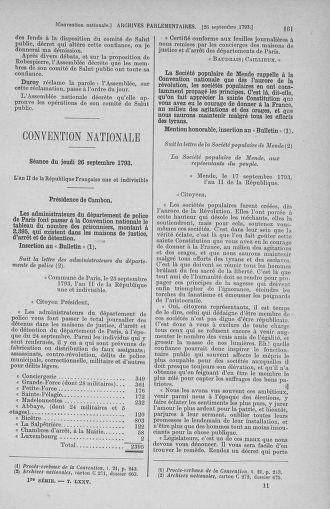 Tome 75 : Du 23 septembre au 3 octobre 1793 - page 161