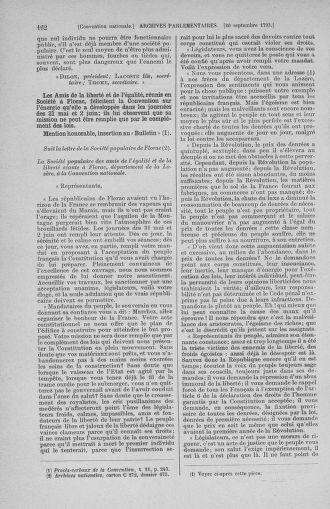 Tome 75 : Du 23 septembre au 3 octobre 1793 - page 162